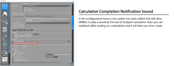 Calibration Completion Notification Millbox